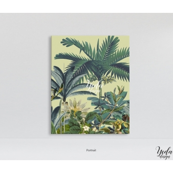 Tableau Illustration Tropical Zen Bloom