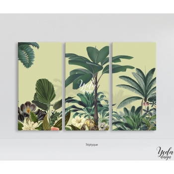 Tableau Illustration Paysage Tropical Zen Bloom
