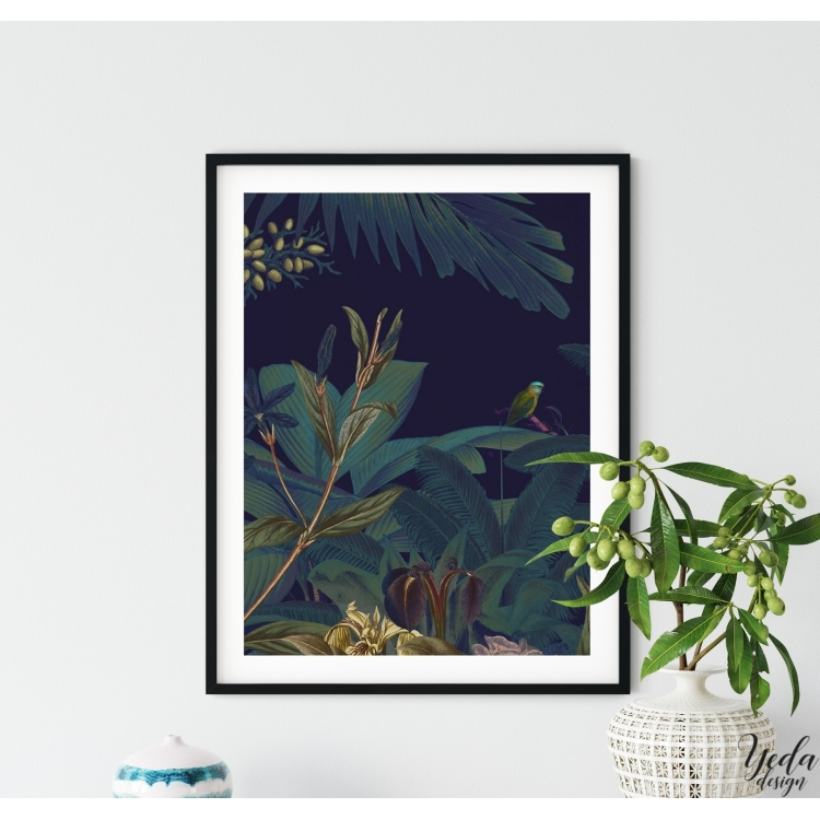 Affiche déco illustration Jungle chic