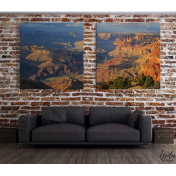 Tableau Diptyque paysages Arizona Grand Canyon
