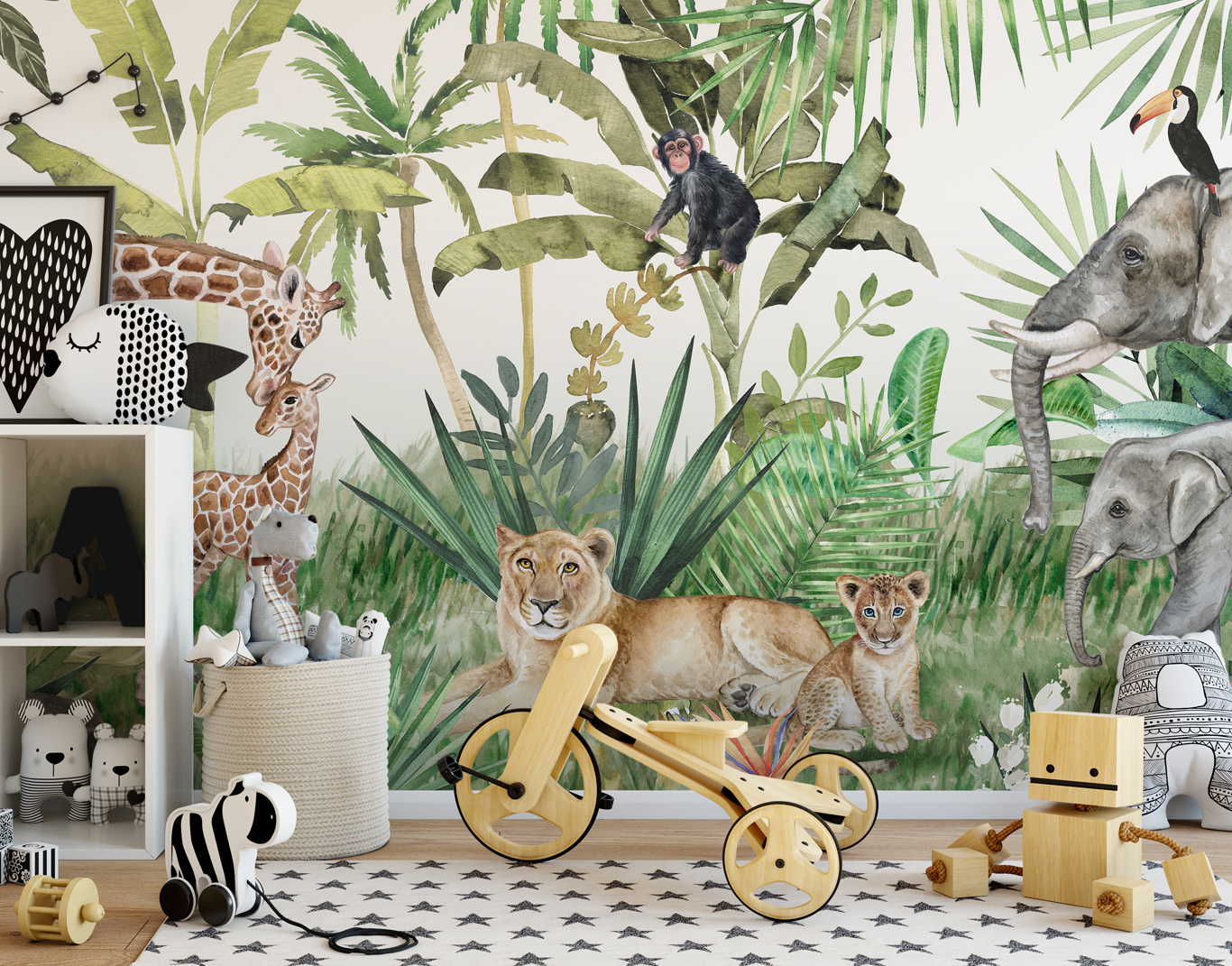 Papier peint jungle enfant